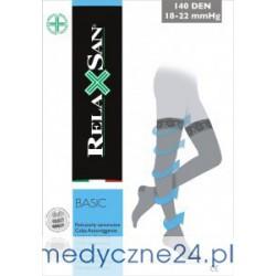 Pończochy samonośne przeciwżylakowe RelaxSan 140 DEN, ucisk 18-22 mmHg art.870