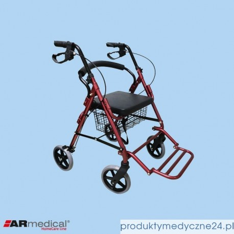 Podpórka rehabilitacyjna 4-kołowa - aluminiowa. COMFORT