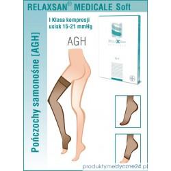 Pończochy samonośne medyczne RelaxSan I Klasa Ucisku 15-21 mmHg - Linia Soft M1170